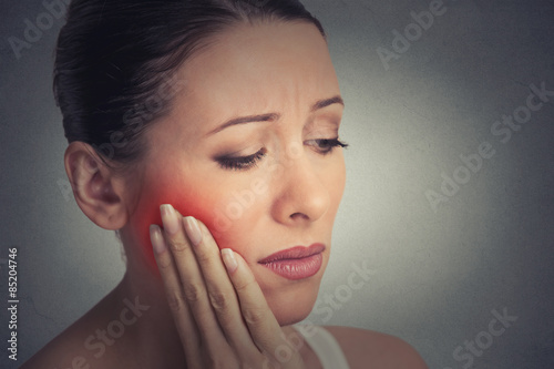 woman with sensitive tooth ache crown problem about to cry from pain Tapéta, Fotótapéta