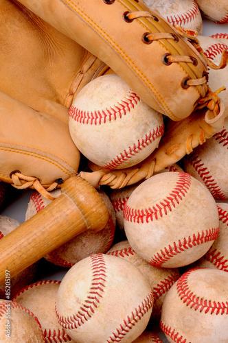 Baseballs Bat and Glove Poster