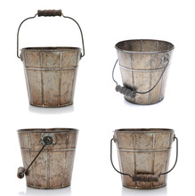 Four Views Of An Old Bucket