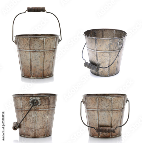 Four Views of an Old Bucket Wall mural