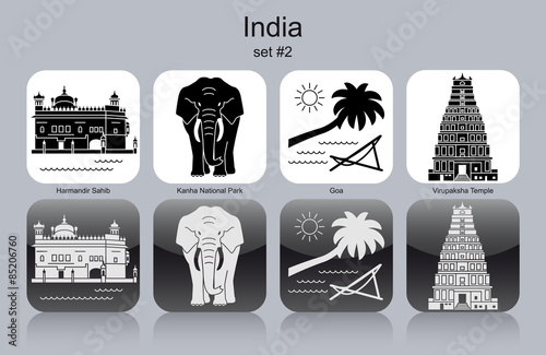 Icons of India Canvas Print