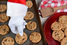 Santa Taking Fresh Baked Cookie