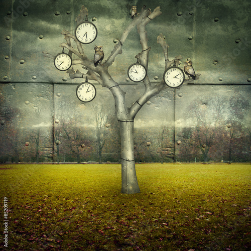 Poster Surrealism Time Mechanical World