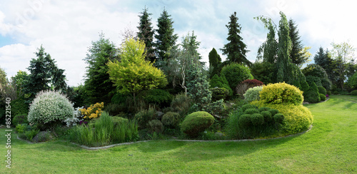 Poster Bomen Beautiful spring garden design