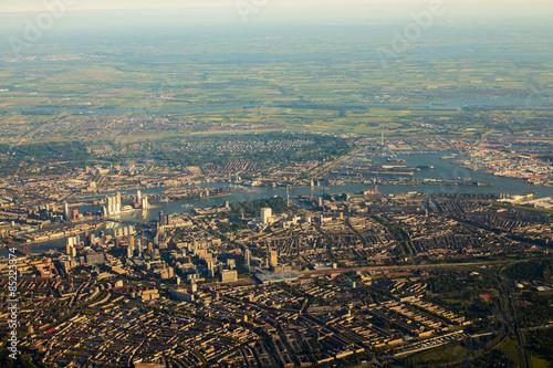 Deurstickers Rotterdam Luftaufnahme, Rotterdam, Niederlande