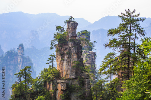 Photo  scene of rock mountain in Zhangjiajie National Forest Park,Hunan