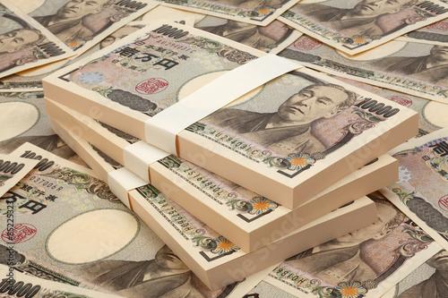 日本紙幣/一万円の札束 Canvas Print