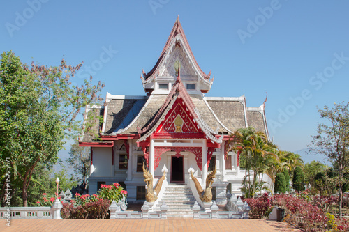 Deurstickers Bedehuis The buddhismTemple View is beautiful at Chiang Rai, Thailand