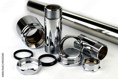 Valokuva  Chrome pipe and accessories