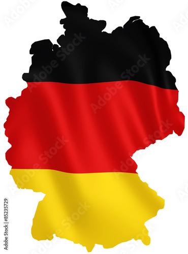 Fotografía  flagge deutschland silhouette