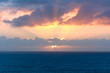 Sunset over the English Channel from Mullion, Cornwall, England