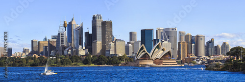 Sydney CBD Day From Boat panorama Canvas Print