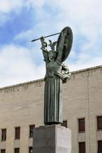 Statua Della Minerva All'Università Di Roma