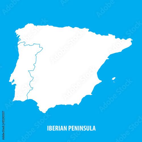 Fotografie, Obraz  Iberian Peninsula, Spain and Portugal