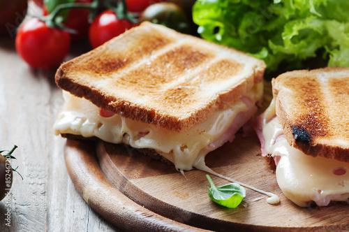 Fotografía  Toas con jamón y queso