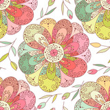 Flower vector seamless pattern. Floral print.