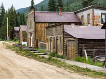 Main Street In Ghost Town Of St Elmo