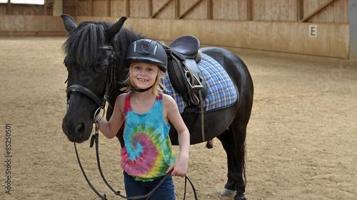 Garden Poster Horseback riding reitunterricht