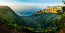 Panoramic View Of Kalalau Vall...
