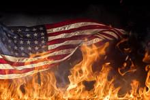 Grunge American Flag, War Conc...
