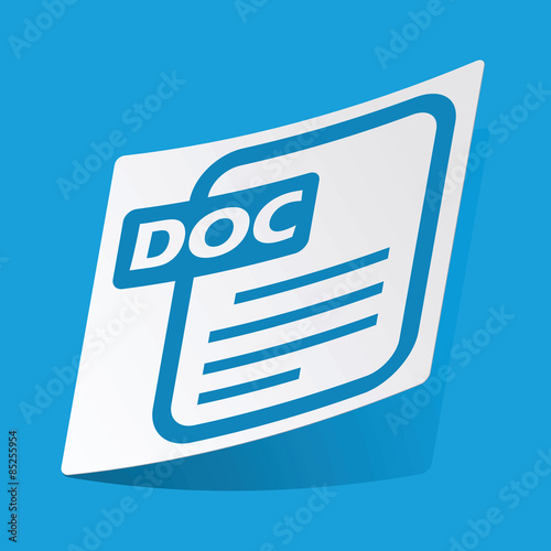 Photo  DOC file sticker