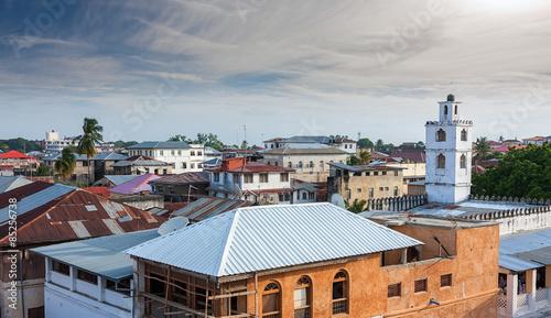Printed kitchen splashbacks Zanzibar rooftop view over stonetown zanzibar
