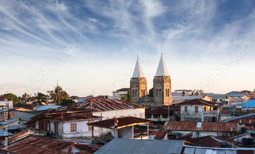Tuinposter Zanzibar stonetown zanzibar roof-top view over city