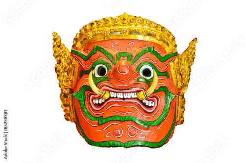 Türaufkleber Phantasie Thai Mask