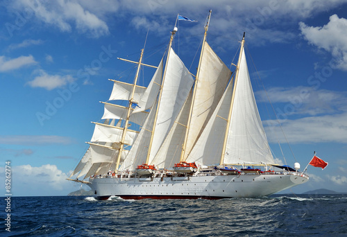 Sailing ship. Series of ships and yachts © Alvov
