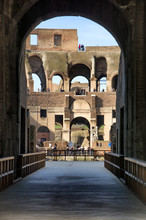 View Of Colosseum In Rome, Italy During The Day