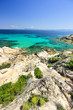 Rocky coastline and a beautiful clear water at Halkidiki Sithoni