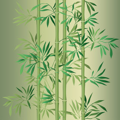 Naklejka Japoński Bamboo leaf background. Floral seamless texture with leaves.