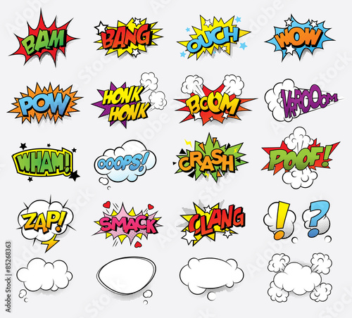 Poster de jardin Pop Art Comic sound effects