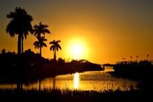 Amazing Sunset In Everglades National Park, Florida, USA