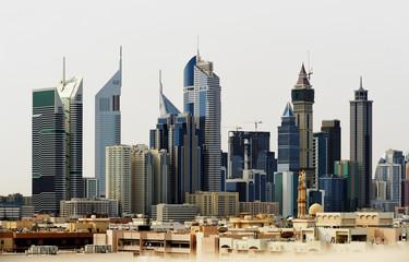 Skyscrapers of Dubai World Trade center