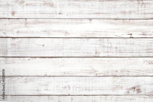 Fotografie, Obraz  白い木板のテクスチャ背景