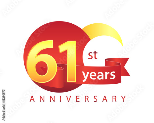Papel de parede  61 Years Anniversary Logo
