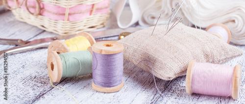 Fotografia, Obraz Tools for sewing and crafts equipment