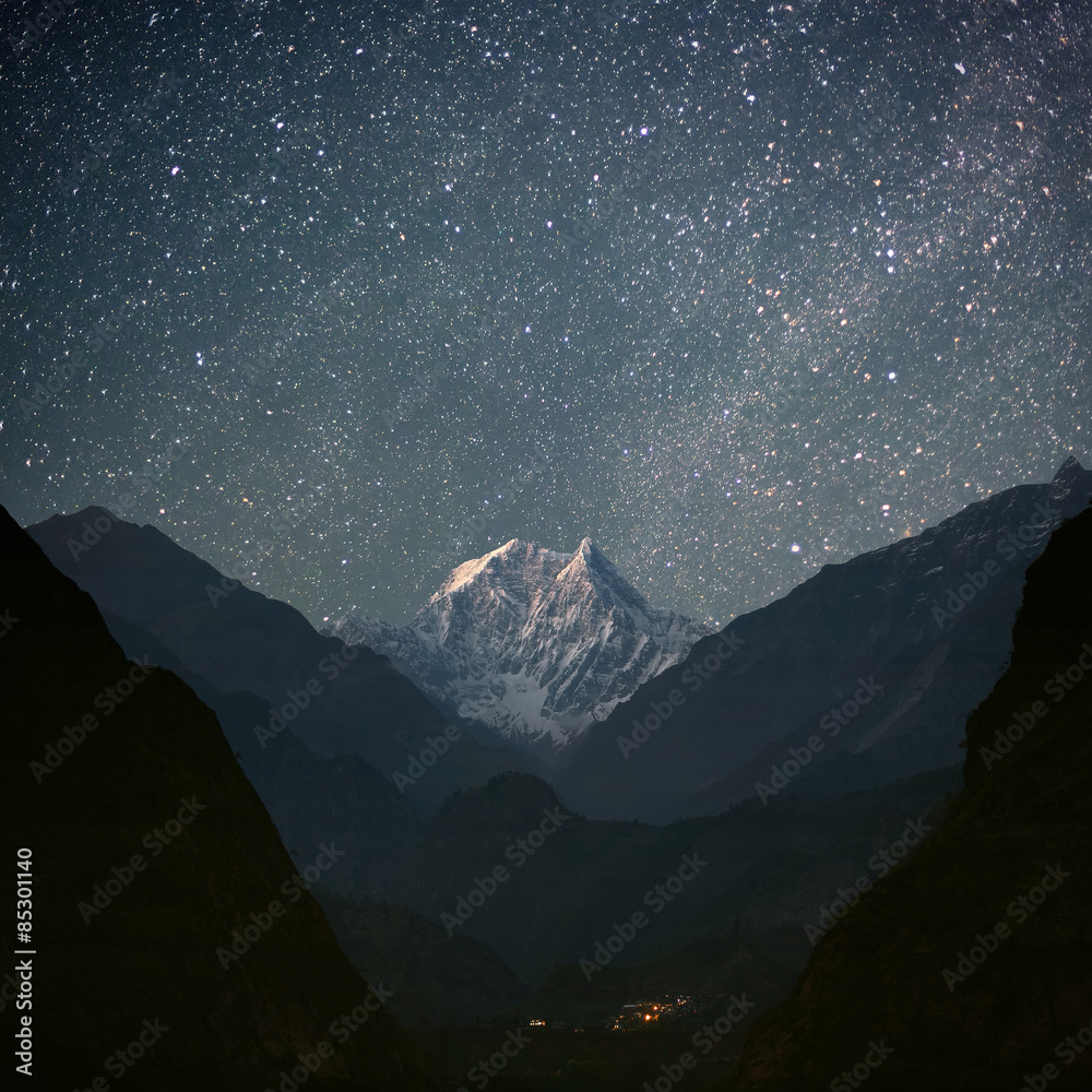 Fototapety, obrazy: Nilgiri South (6839 m)