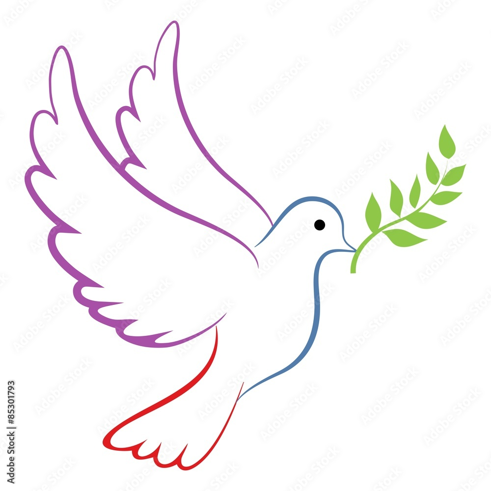 Foto  Peace Dove Color