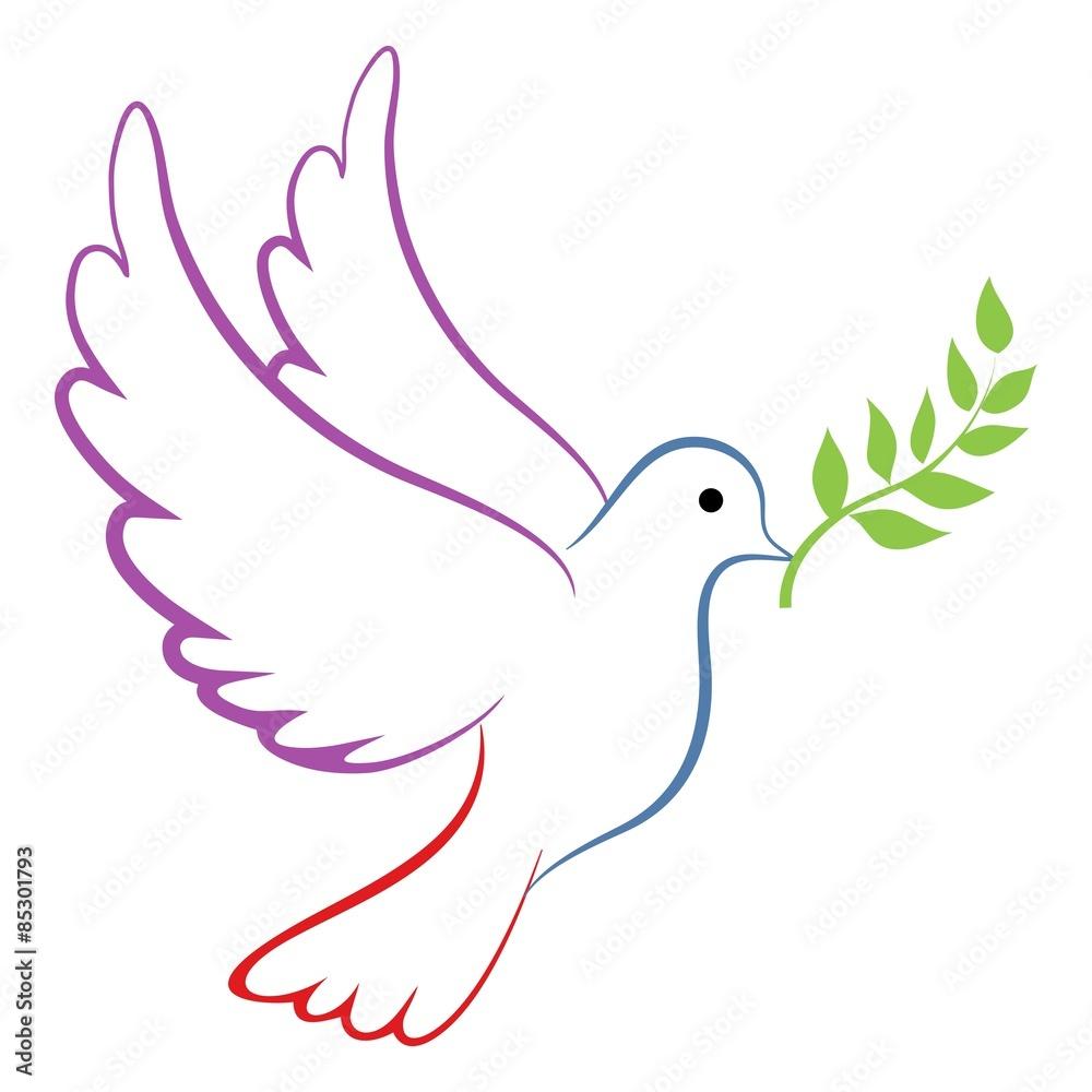 Foto  Peace Dove Color