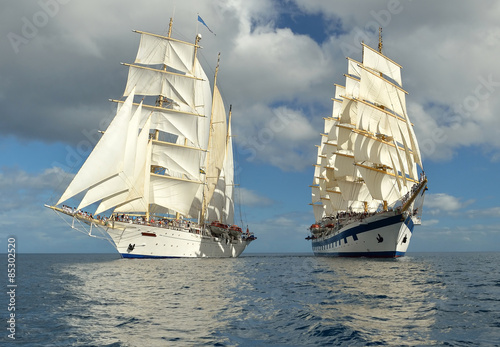 Obrazy na płótnie Canvas Sailing. Series of ships and yachts