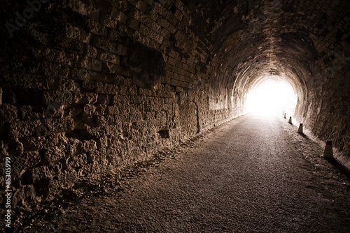 Tuinposter Tunnel Black tunnel