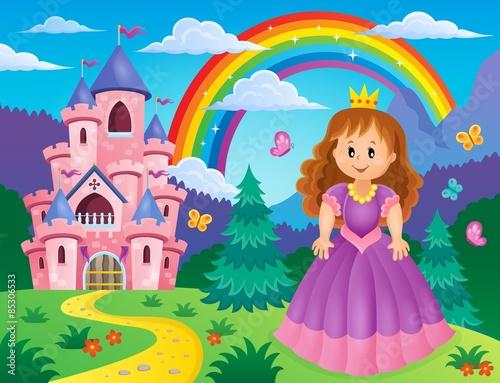 fototapeta na drzwi i meble Obraz temat 2 Księżniczka