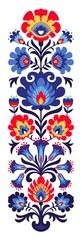 FototapetaPolish folk flowers papercut