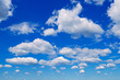 Leinwandbild Motiv Blue sky with clouds.
