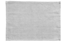 White Canvas Tablecloth Isolated On White Background..