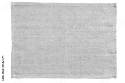 Obraz White canvas tablecloth isolated on white background.. - fototapety do salonu
