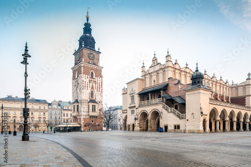 Old city center of Krakow, Poland Canvas Print