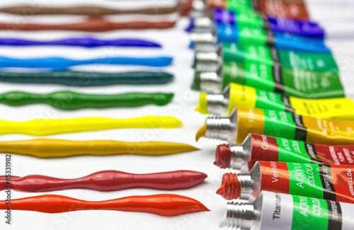 Fotografia Acrylfarben closeup